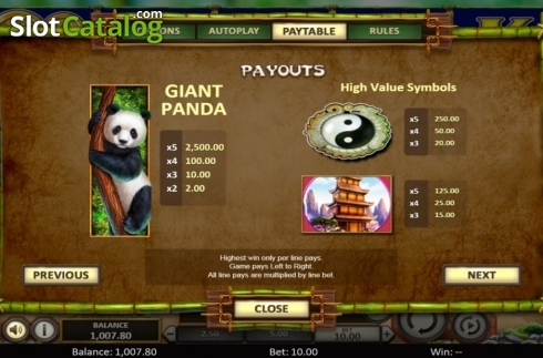 Scherm10. Bamboo Rush (Video Slot van Betsoft)