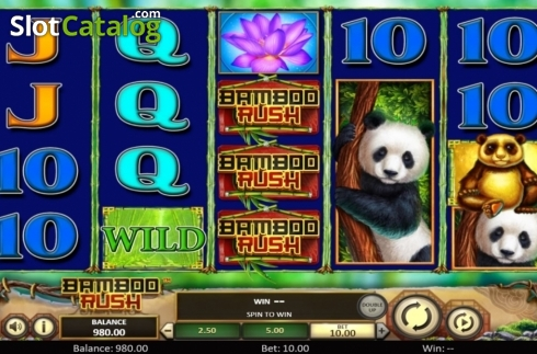 Scherm3. Bamboo Rush (Video Slot van Betsoft)