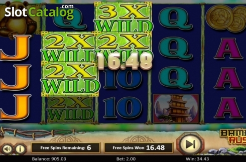 Scherm6. Bamboo Rush (Video Slot van Betsoft)