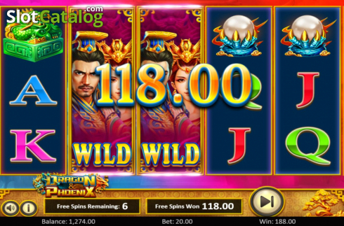 Free spins 2. Dragon & Phoenix (Video Slot from Betsoft)