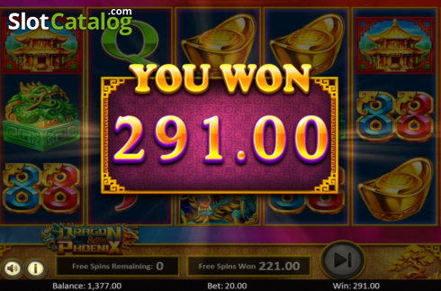 Total Win. Dragon & Phoenix (Video Slot from Betsoft)