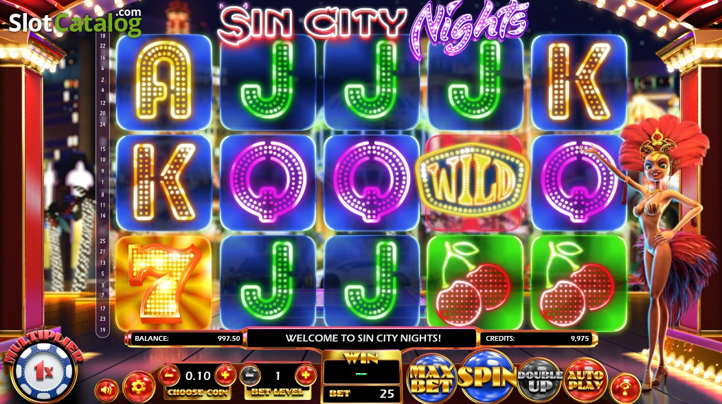 Sin City Nights spilleautomat - Mobil6000