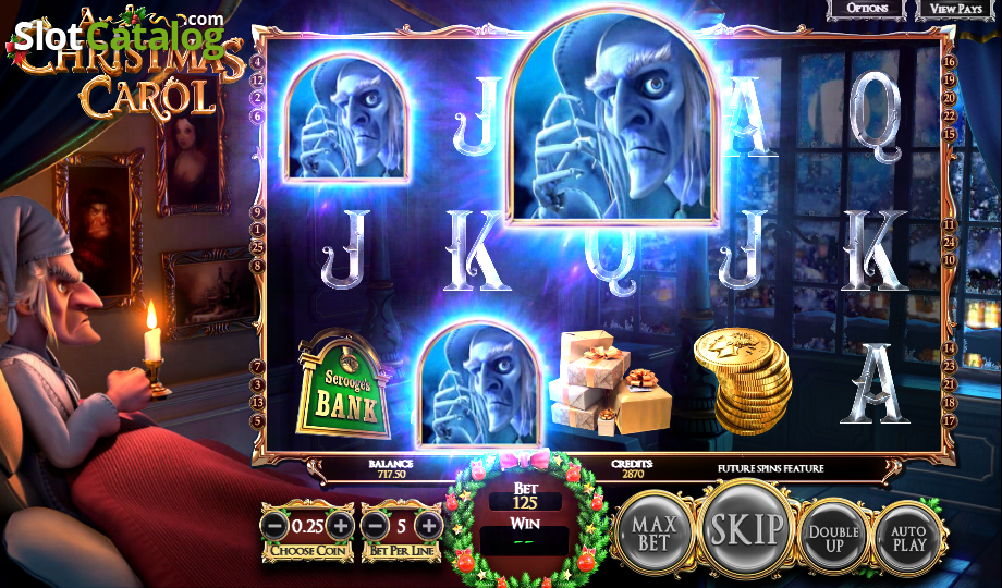 A Christmas Carol Slot Machine - Free to Play Game by Betsoft