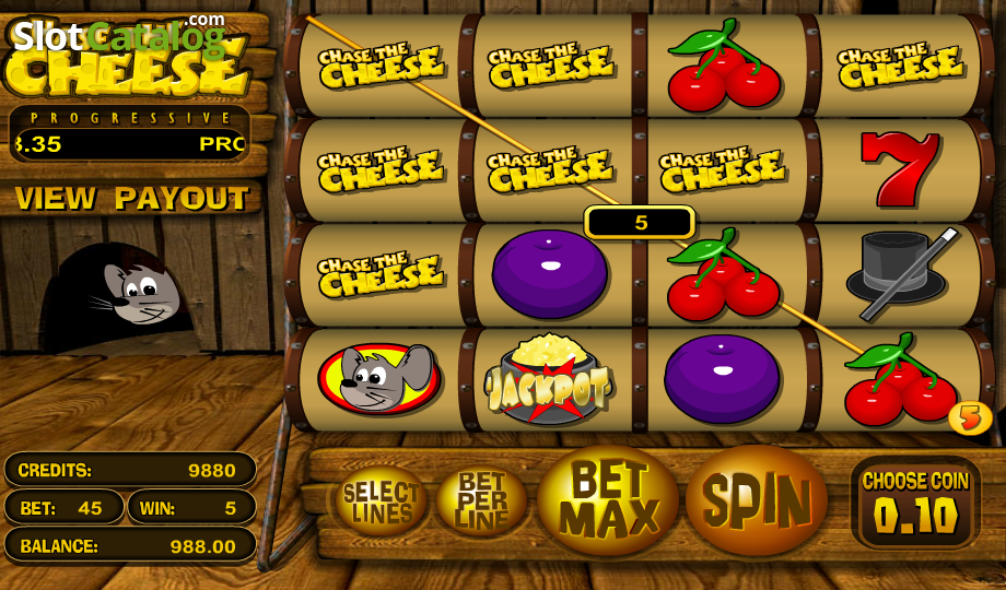 Chase the Cheese Slots - Play Chase the Cheese Slots from BetSoft