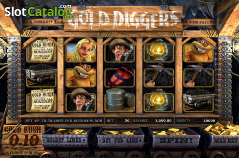 Reels. Gold Diggers (Video Slots from Betsoft)