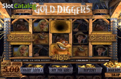 The Click Me. Gold Diggers (Video Slots from Betsoft)