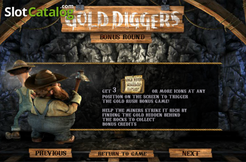Paytable 4. Gold Diggers (Video Slots from Betsoft)