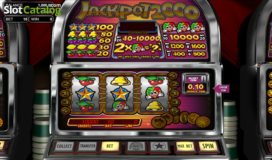 Jackpot 2000 Slot - Play this Game by Betsoft Online