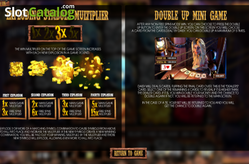 Paytable 2. More Gold Diggin (Video Slot from Betsoft)