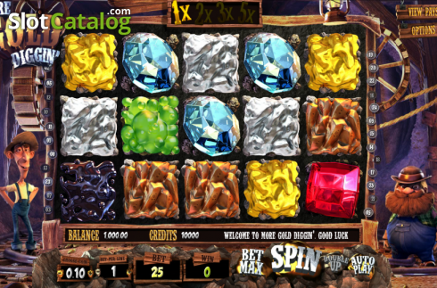 Reels. More Gold Diggin (Video Slot from Betsoft)