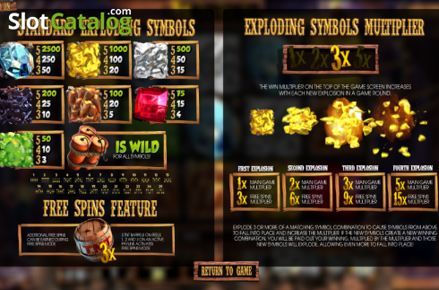 Paytable 1. More Gold Diggin (Video Slot from Betsoft)