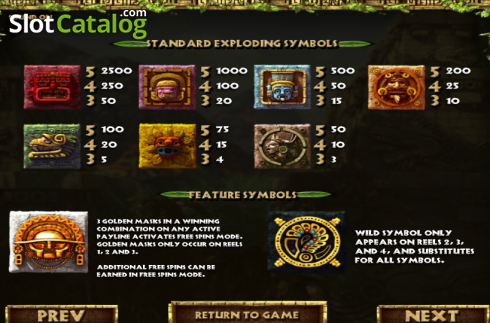 Paytable 2. Rooks Revenge (Video Slot from Betsoft)