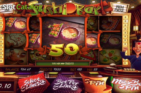 A castiga. Sushi Bar (Slot video din Betsoft)