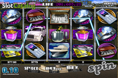 Click Me. The Glam Life (Video Slots from Betsoft)