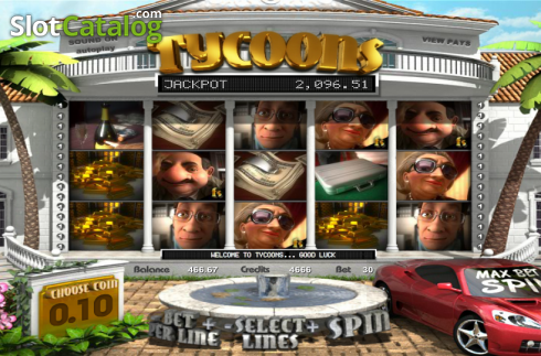 Reels. Tycoons (Video Slot from Betsoft)