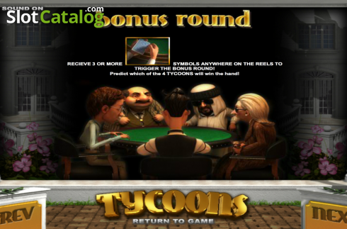Paytable 3. Tycoons (Video Slot from Betsoft)
