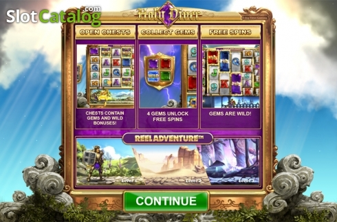 Intro screen. Holy Diver (Video Slots from Big Time Gaming)