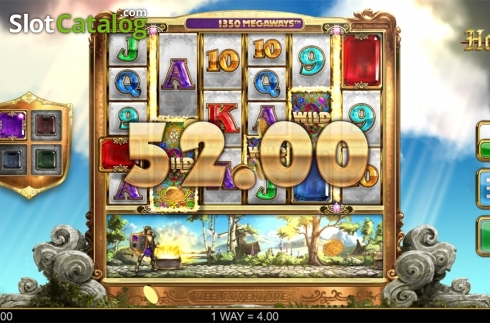 Wild win screen. Holy Diver (Video Slots from Big Time Gaming)