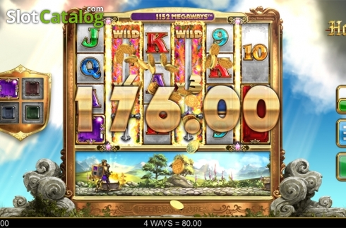 Wild win screen 2. Holy Diver (Video Slots from Big Time Gaming)