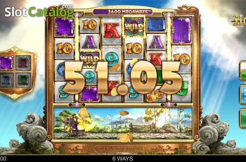 Wild win screen 3. Holy Diver (Video Slots from Big Time Gaming)