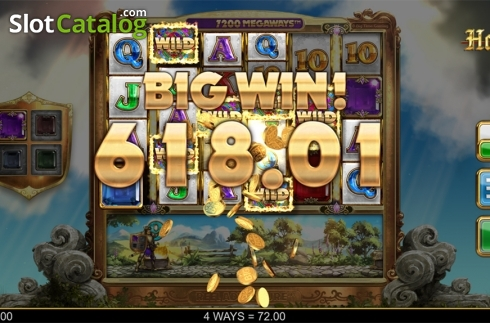 Big win screen. Holy Diver (Video Slots from Big Time Gaming)