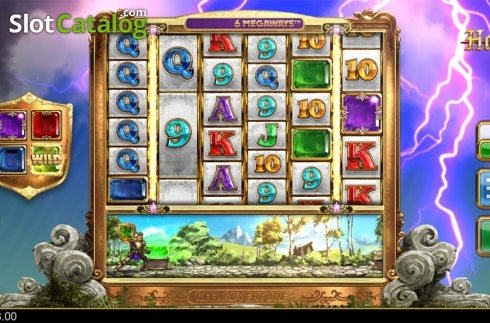 Level up win screen. Holy Diver (Video Slots from Big Time Gaming)