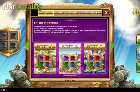 Paytable 4. Holy Diver (Video Slots from Big Time Gaming)