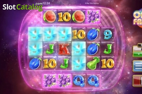 Win Screen. Opal Fruits (Video Slot from Big Time Gaming)