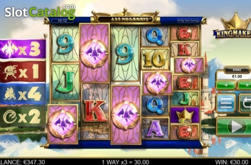 Win Screen. Kingmaker (Video Slot from Big Time Gaming)