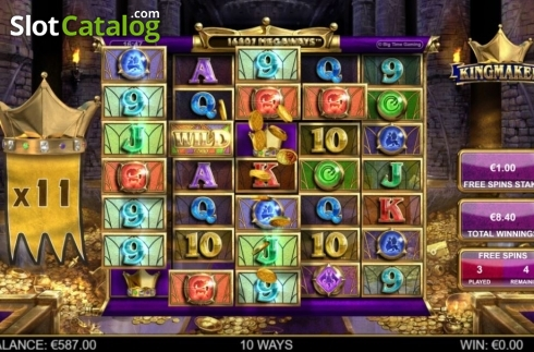 Free Spins 2. Kingmaker (Video Slot from Big Time Gaming)
