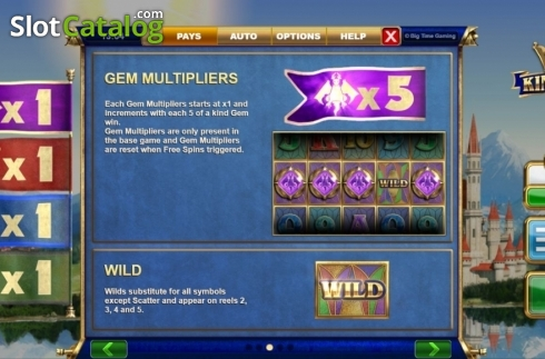 Features 1. Kingmaker (Video Slot from Big Time Gaming)