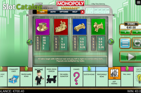 Paytable 2. Monopoly Megaways (Video Slots from Big Time Gaming)
