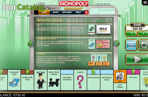 Features 3. Monopoly Megaways (Video Slots from Big Time Gaming)