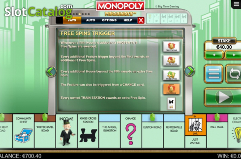 Features 4. Monopoly Megaways (Video Slots from Big Time Gaming)