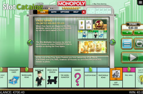 Features 5. Monopoly Megaways (Video Slots from Big Time Gaming)