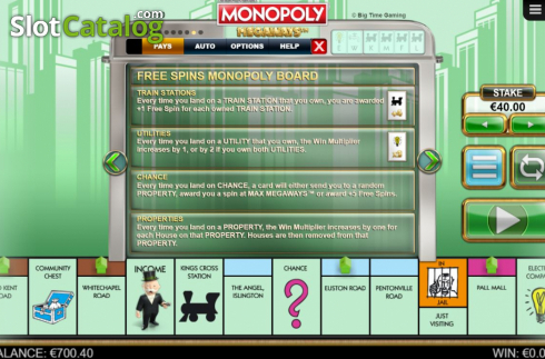 Features 6. Monopoly Megaways (Video Slots from Big Time Gaming)