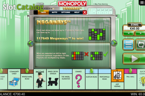 Ways. Monopoly Megaways (Video Slots from Big Time Gaming)