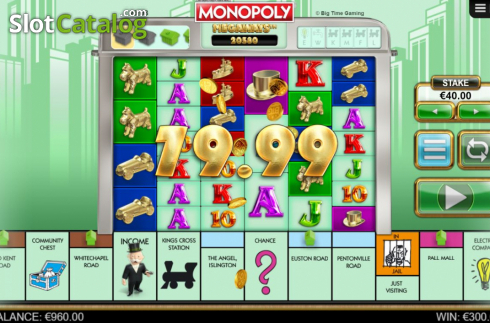 Win Screen 1. Monopoly Megaways (Video Slots from Big Time Gaming)