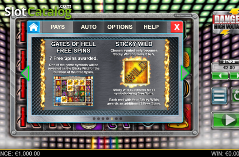 Paytable 5. Danger High Voltage (Video Slot from Big Time Gaming)