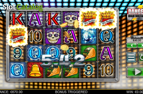Screen 5. Danger High Voltage (Video Slot from Big Time Gaming)