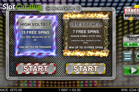 Screen 6. Danger High Voltage (Video Slot from Big Time Gaming)