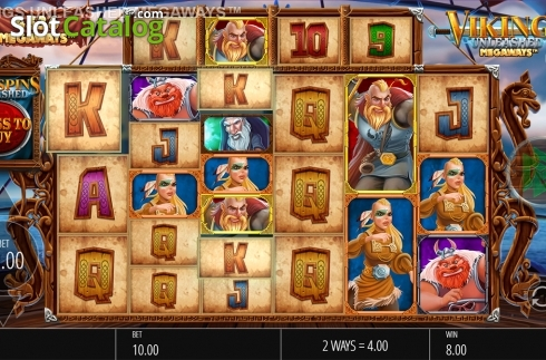 Skjerm5. Vikings Unleashed Megaways (Video Slot fra Blueprint)