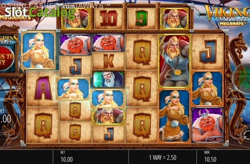 Skjerm6. Vikings Unleashed Megaways (Video Slot fra Blueprint)