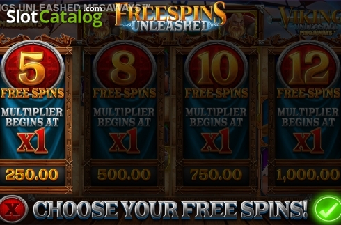 Skjerm7. Vikings Unleashed Megaways (Video Slot fra Blueprint)
