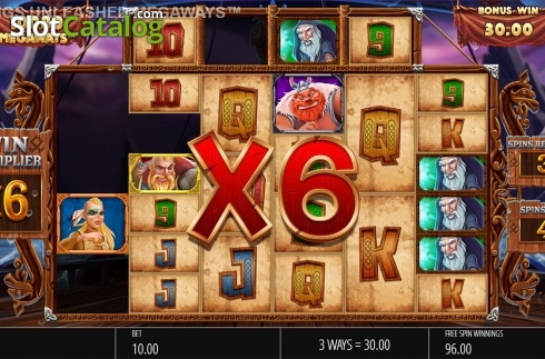 Skjerm11. Vikings Unleashed Megaways (Video Slot fra Blueprint)