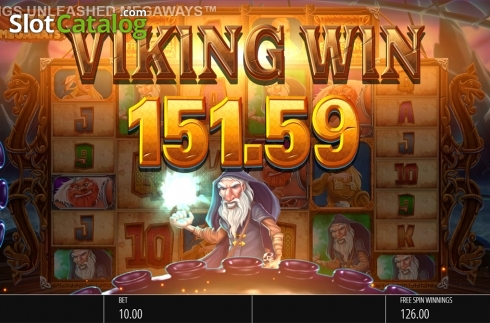Skjerm13. Vikings Unleashed Megaways (Video Slot fra Blueprint)