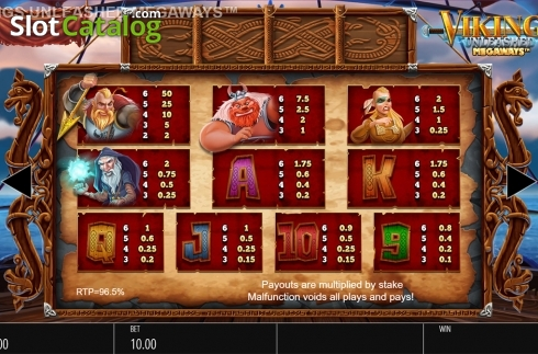 Skjerm18. Vikings Unleashed Megaways (Video Slot fra Blueprint)