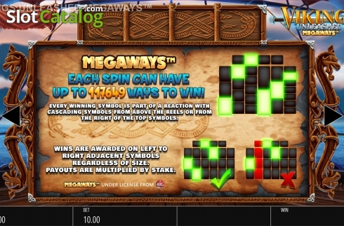 Skjerm19. Vikings Unleashed Megaways (Video Slot fra Blueprint)