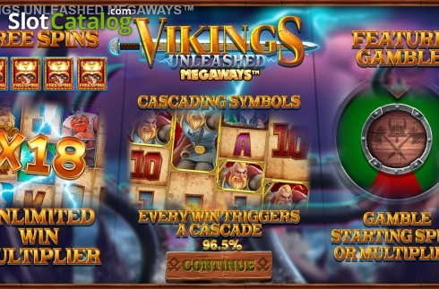 Skjerm2. Vikings Unleashed Megaways (Video Slot fra Blueprint)