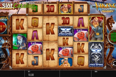Skjerm3. Vikings Unleashed Megaways (Video Slot fra Blueprint)